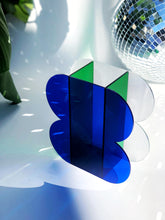 Load image into Gallery viewer, The Gretchen Vessel in Cobalt, Deep Green, + Ribbed Acrylic