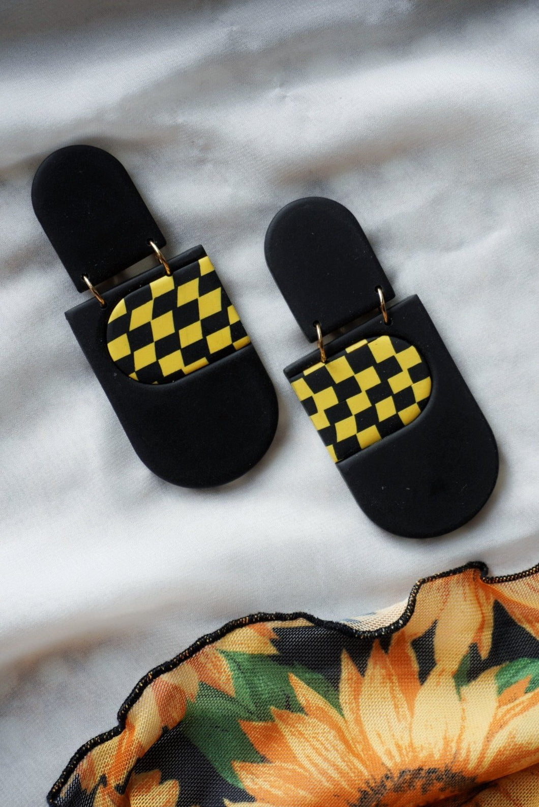 The Fiona in Black + Yellow Checkers