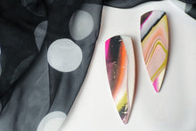 Load image into Gallery viewer, The Gemini in Avocado, Orange, Olive, Pink, + Cream Marble
