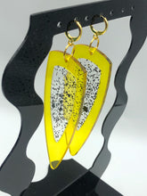 Load image into Gallery viewer, The Gemini in Yellow Acrylic with Black Tourmaline + Resin