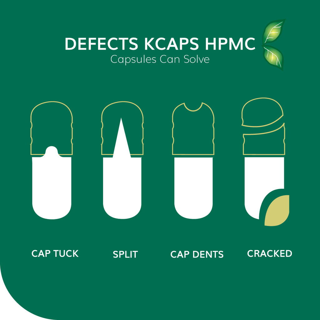DEFECTS THAT K-CAPS® HPMC CAPSULES CAN SOLVE FOR THE DIETARY SUPPLEMENT INDUSTRY