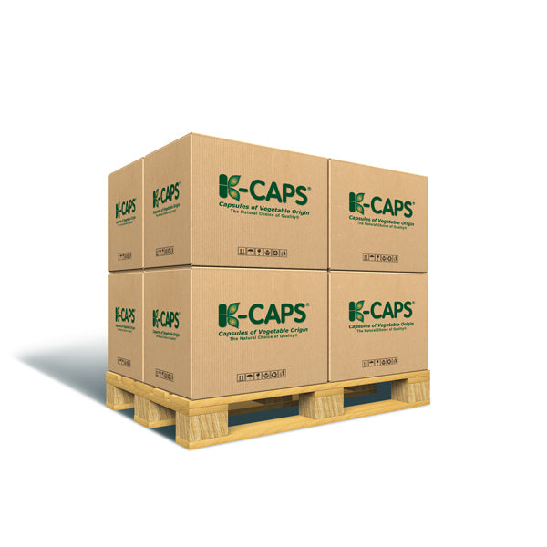 K-CAPS® Separated Clear HPMC Vegetarian Capsules <br>Size 0 - Box of 100,000