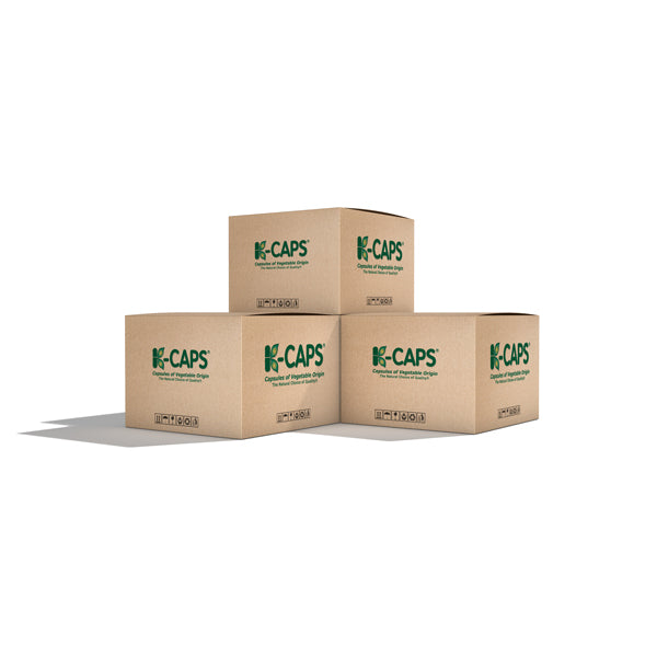 K-CAPS® Orange HPMC Vegetarian Capsules <br> Size 0 - Box of 100,000
