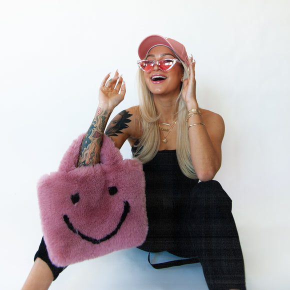 rose smiley cowgirl clutch