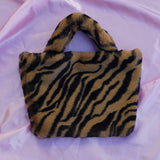 tan zebra cowgirl clutch