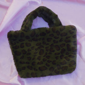 green cheetah cowgirl clutch