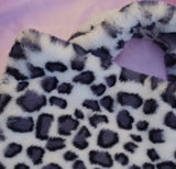 snow leopard cowgirl clutch
