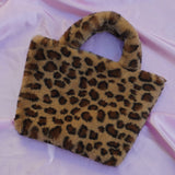 teddy leopard cowgirl clutch