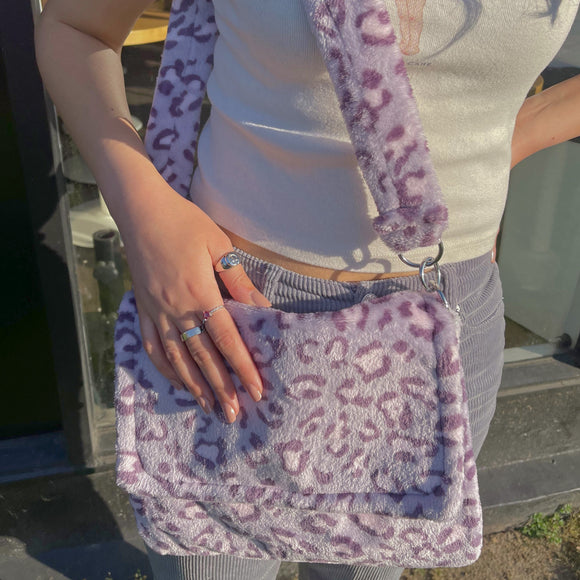 violet messenger bag