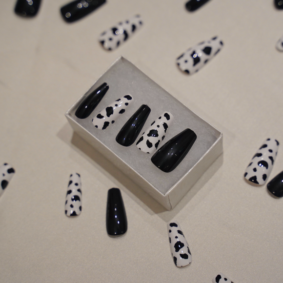 black cow nails