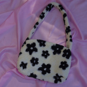 soft daisy fur bag