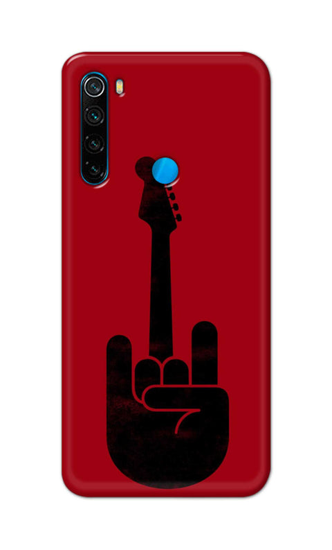 Rock on Guitar Back Cover for Xiaomi Redmi Note 8 | Mobile Back Covers | Nukkad Market