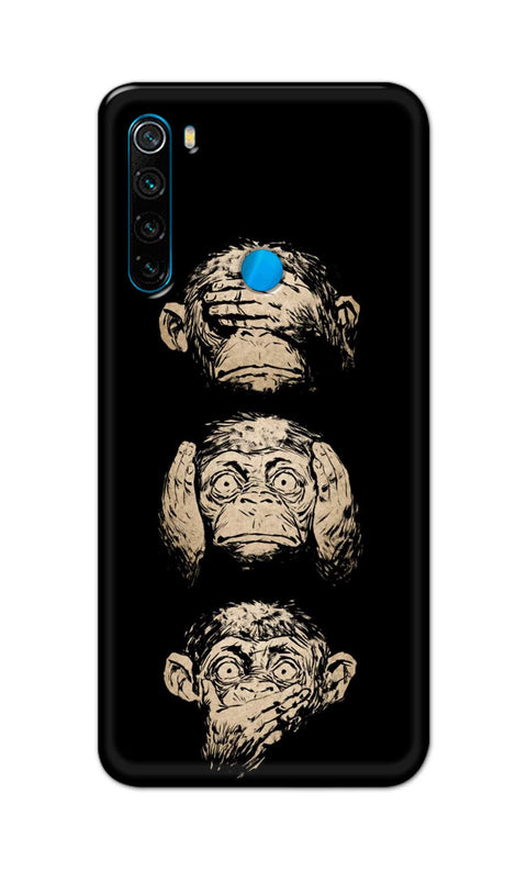 Three Monkey Back Cover for Xiaomi Redmi Note 8 | Mobile Back Covers | Nukkad Market