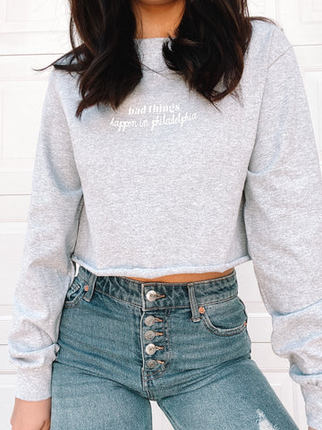 """Bad Things Happen"" Cropped Long Sleeve"