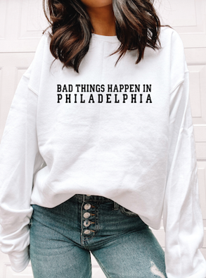 """Bad Things Happen"" Varsity Crewneck"