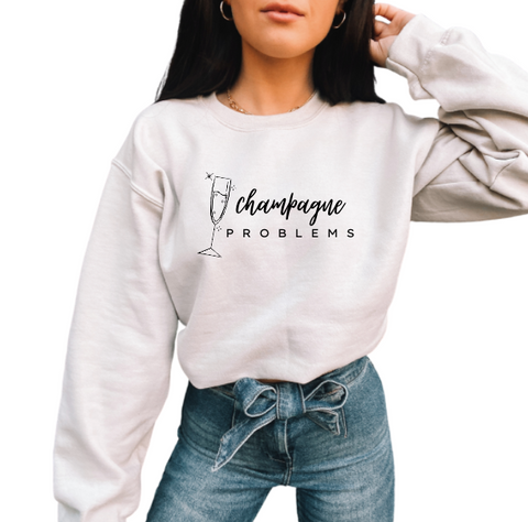 Champagne Problems Crewneck