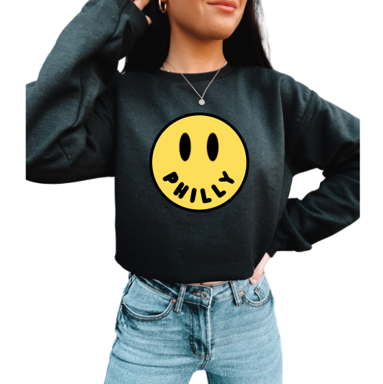 CUSTOM City Smiley Crewneck