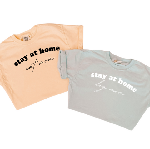 Stay at Home Cat Mom Tee