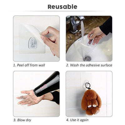 【BUY 2 GET EXTRA 10%OFF+FREE SHIPPING】Reusable Anti-skid Traceless Hooks (20 PCS) - angleshops