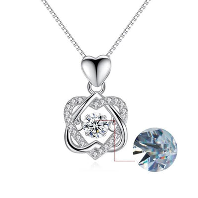 [Free Shipping]Rose Pendant Necklace Set Sterling Silver🌹🌹🌹the moments you want to be remembered forever
