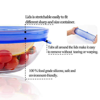 【50% OFF+FREE SHIPPING】Silicone Stretch Lids (6 PCS) - angleshops