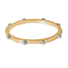 Load image into Gallery viewer, Paz Spinner Ring Yellow Gold and White Gold