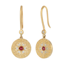 Load image into Gallery viewer, La Rioja Amor Medallion Earrings