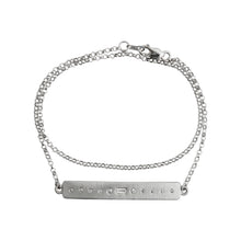 Load image into Gallery viewer, Sevilla Bar Bracelet White Gold