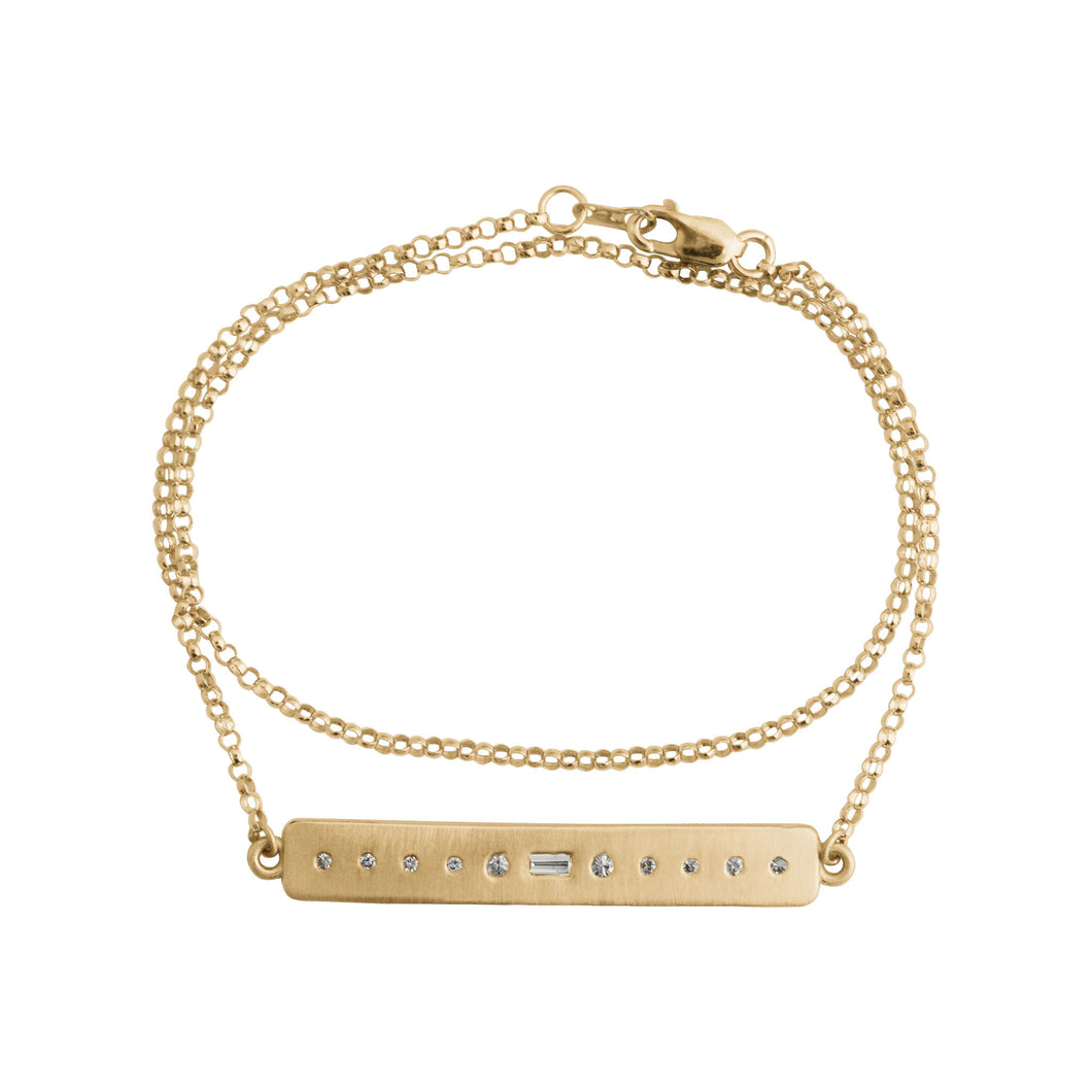 Sevilla Bar Bracelet Yellow Gold