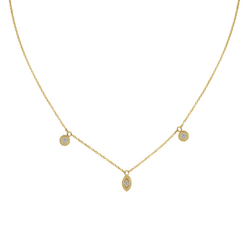Lissa Diamond Dangle Necklace