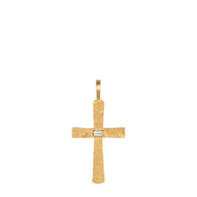 Load image into Gallery viewer, Santos Cross with Diamond Baguette