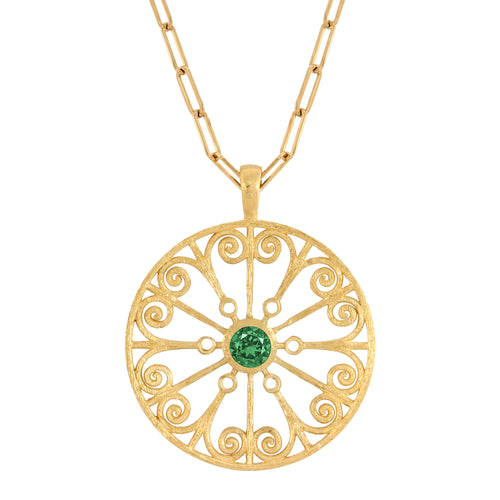 La Rioja Emerald Open Medallion with chain