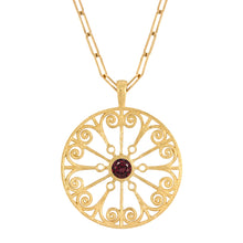 Load image into Gallery viewer, La Rioja Garnet Open Medallion