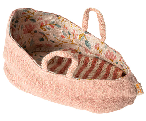 Maileg Carry Cot - Misty Rose