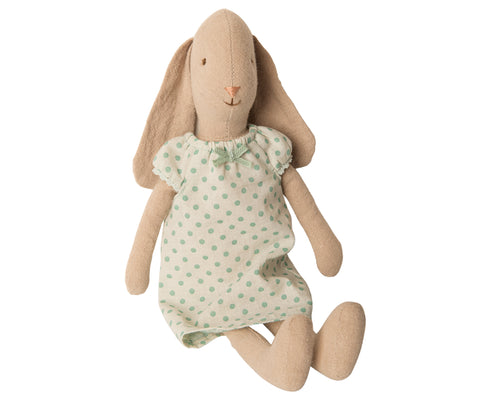 Maileg Bunny in Mint Nightgown (Size 2)