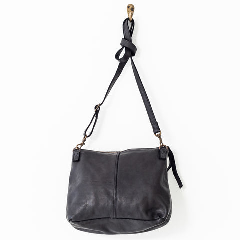 Large Leather Pouch - Black