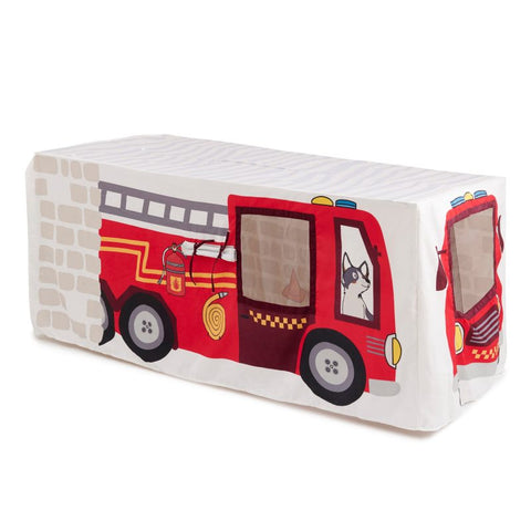 Fire Truck and Station Table Tent