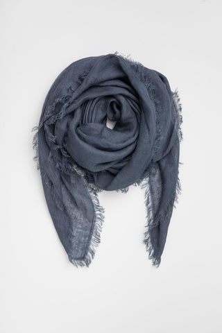 Linen Scarf - French Navy