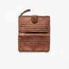 Large Leather Wallet - Cognac