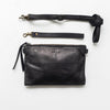 Leather Cross Body Pouch - Black
