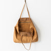Unlined Leather Tote Bag - Natural
