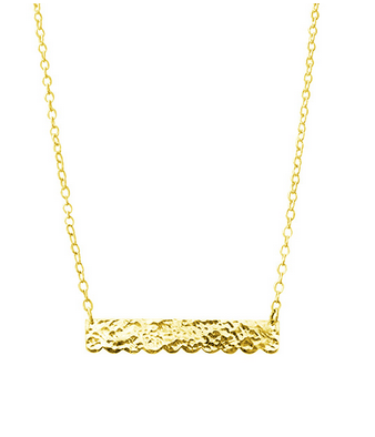 22ct Gold Bar Lace Necklace