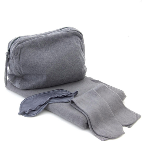 Cashmere Bon Voyage Travel Set - Slate grey