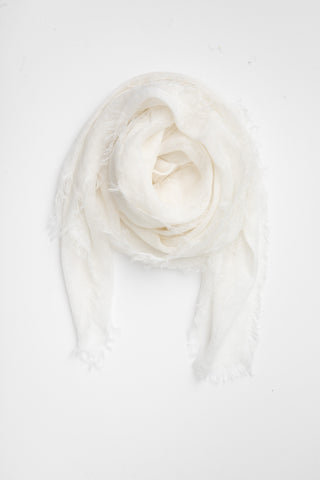 Linen Scarf - Winter White