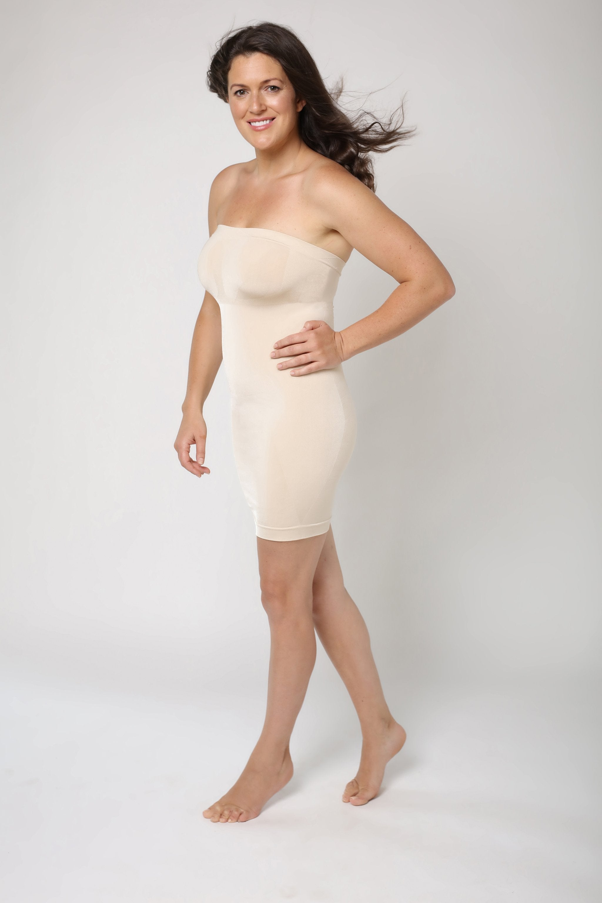 Beiges Shapewear Kleid - Hautfarben