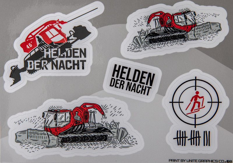 Red Edition A5 Stickerbogen