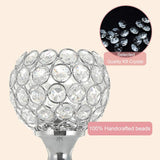 TINNY PANDA™ Creative modern Silver crystal tealight candle jar for home decor with stand