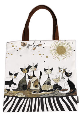 Shopping bag-art Cats, sepia