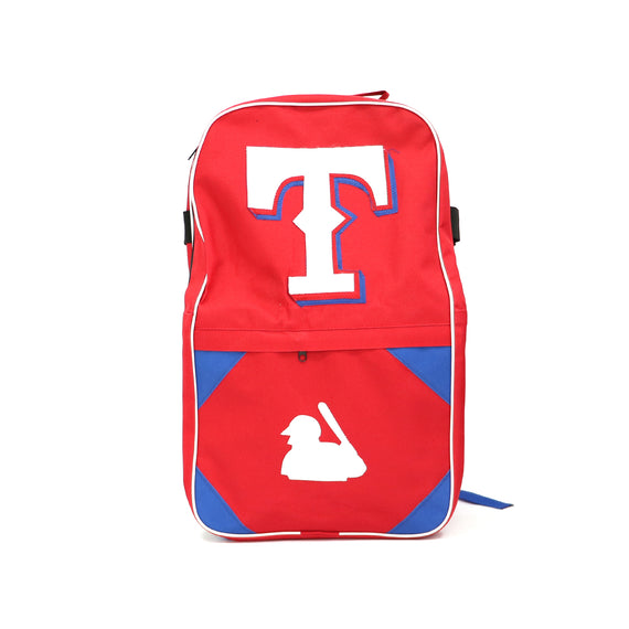 Back Pack Beisbol Softbol BS Texas Roja Letra Blanca