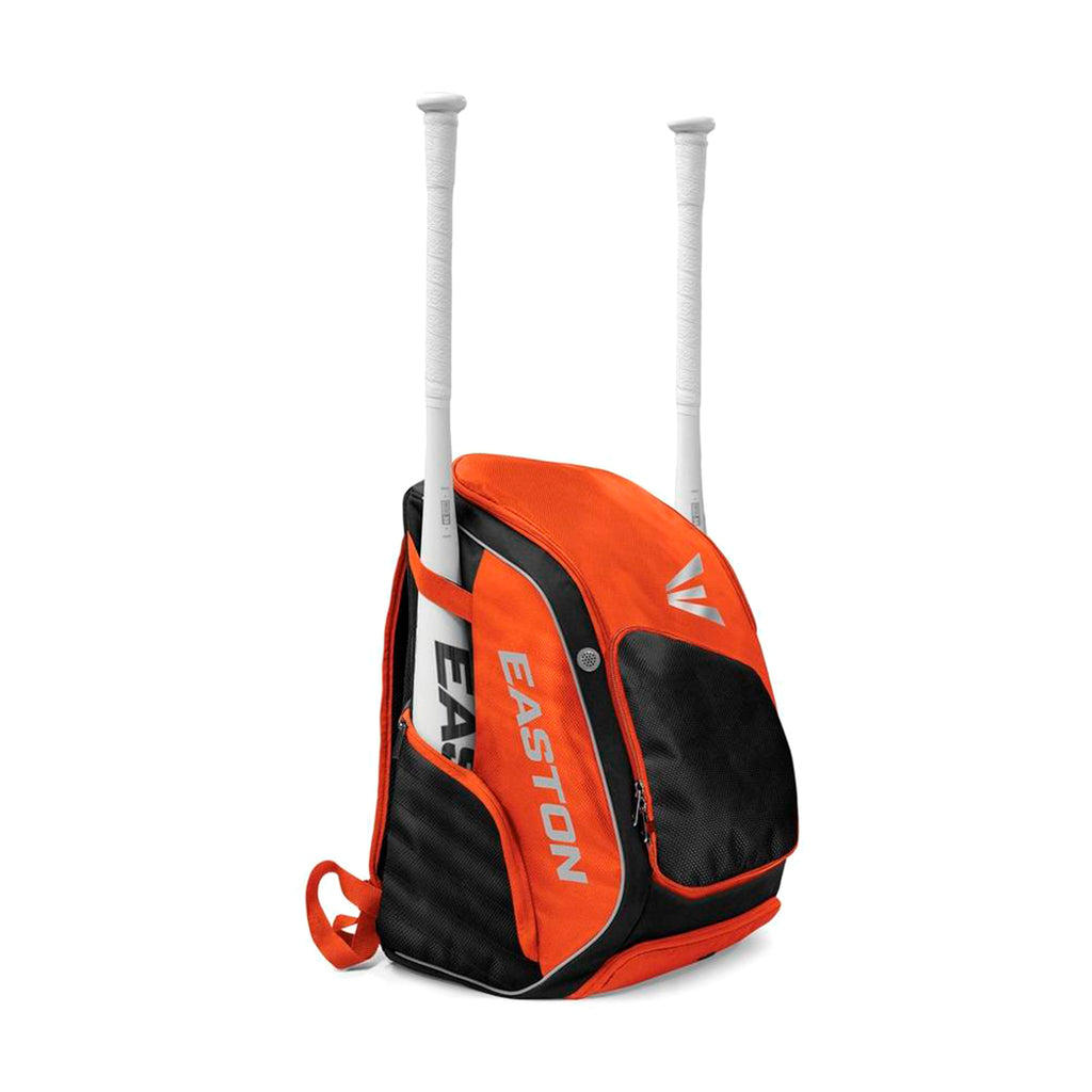 Back Pack Beisbol Softbol Easton Elite X Naranja Negro